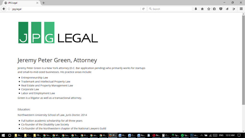2016 JPG Legal website screenshot